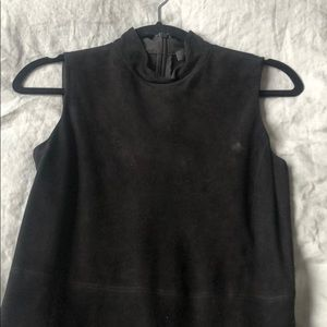 Theory Black suede dress